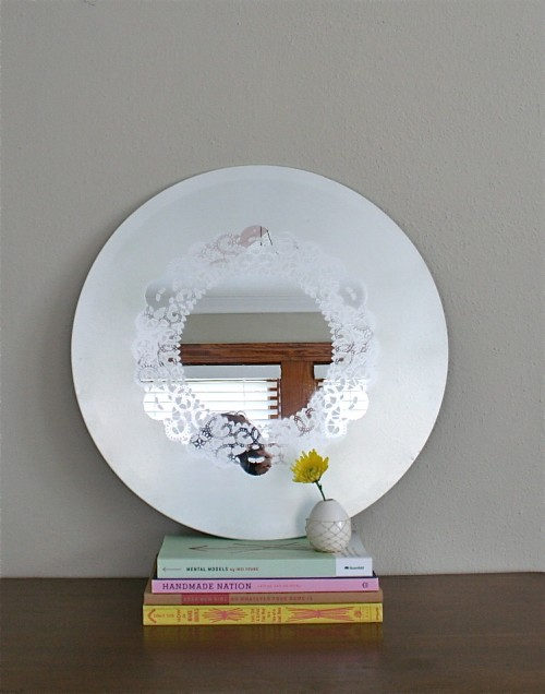 Diy frosted glass doily mirror 3 500x636