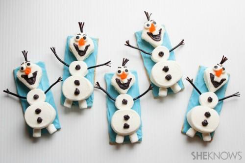 Olaf the snowman snacks (via sheknows)