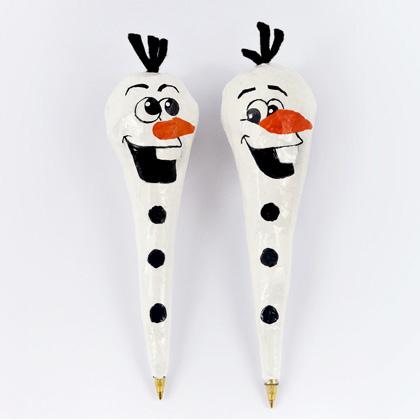papier mache Olaf pens (via family)