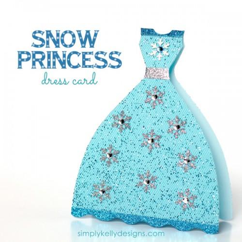 Elsa Frozen princess card (via simplykellydesigns)