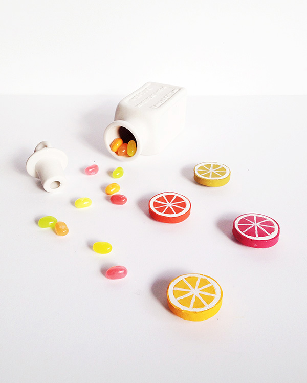 citrus clay magnets