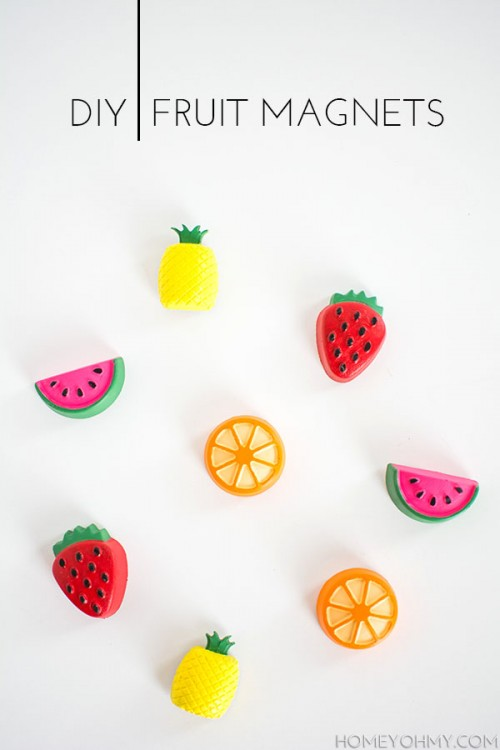 fruit magnets (via homeyohmy)