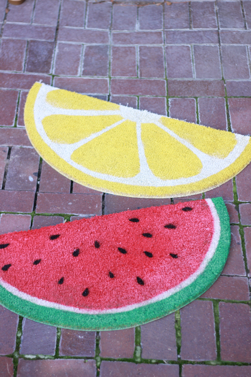 fruit welcome mats (via thehousethatlarsbuilt)