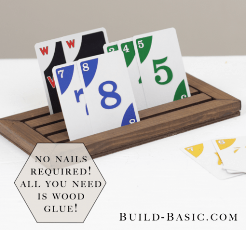 DIY Game Card Holder For Family Pastimes