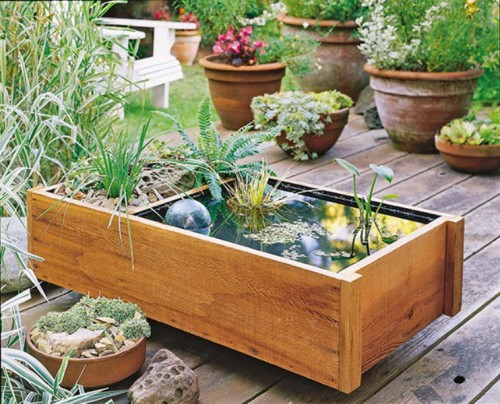 DIY Garden And Deck-Top Pond In One