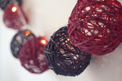 DIY Garland Of Yarn For All Holidays and Weekdays