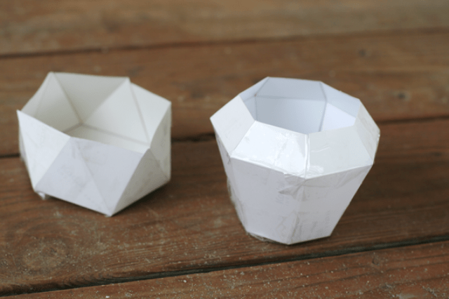 Picture Of diy geometric concrete bowls in two ways  3