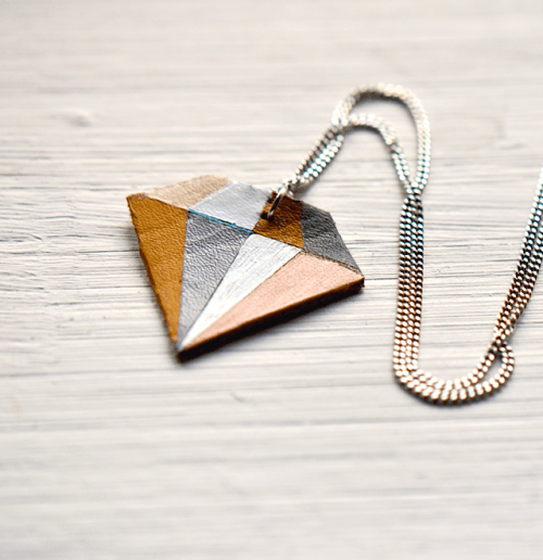 Diy Geometric Diamond Necklace