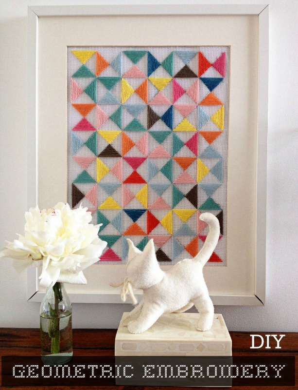Picture of diy geometric embroidery art piece