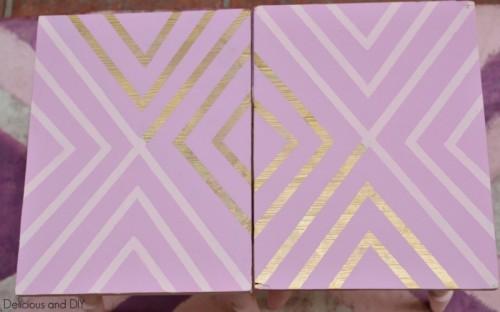 gold geometric tables (via deliciousanddiy)