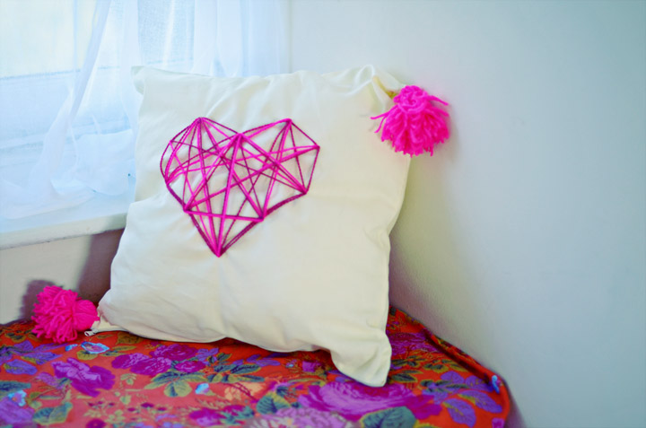 Diy Geometric Heart Cushion