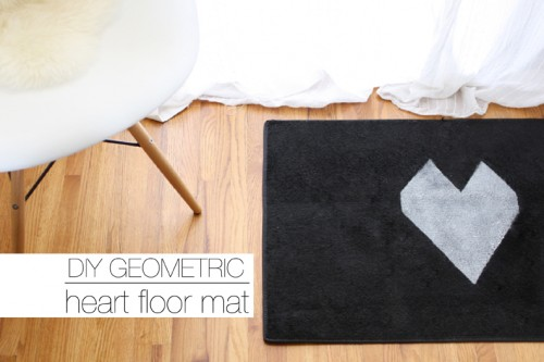 DIY Geometric Heart Floor Mat