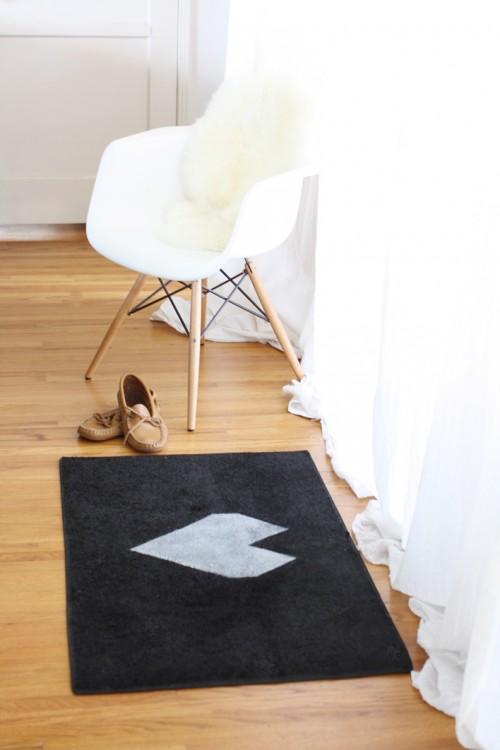 Diy Geometric Heart Floor Mat