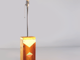 lamp with a geo painted base