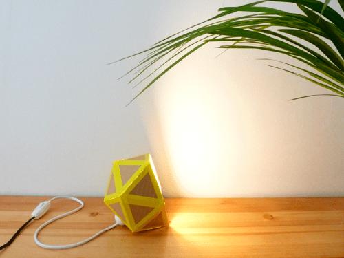 cardboard table lamp (via diy)