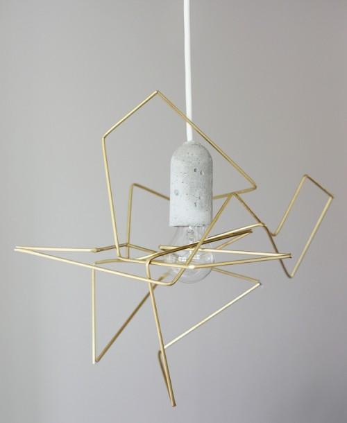 metal geo lampshade (via weekdaycarnival)