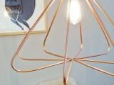 copper geo pendant lamp