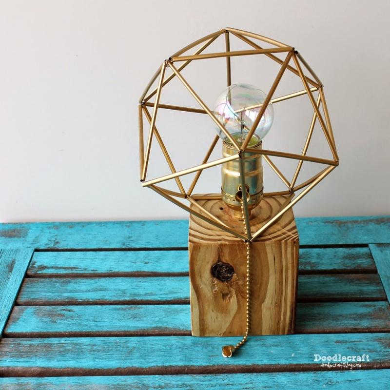 reclaimed wood lampshade