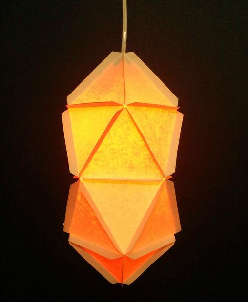 geo paper lamps