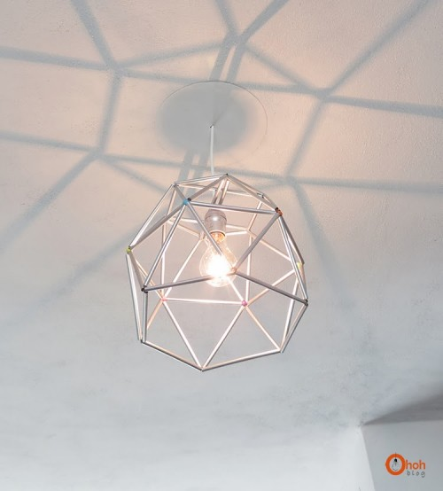 11 Diy Geometric Lamps To Make A Statement Shelterness
