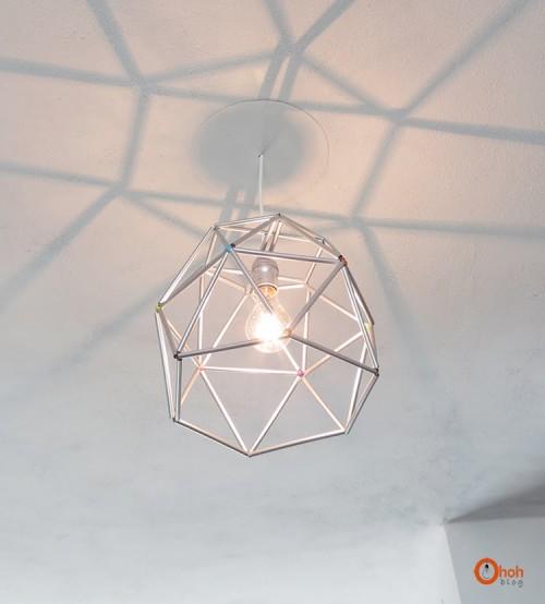 geo straws lampshade (via ohohblog)