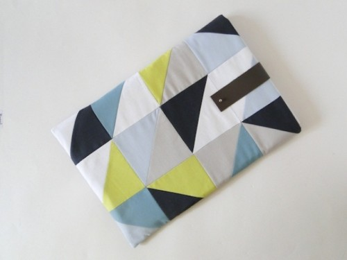 DIY Geometric Laptop Sleeve