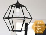 diy-geometric-pendant-light-fixture-of-straws-1
