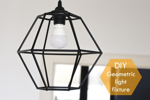 Diy geometric pendant light fixture of straws shelterness diy geometric pendant light fixture of straws mozeypictures Image collections