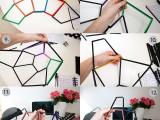diy-geometric-pendant-light-fixture-of-straws-4