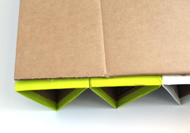 Picture Of diy geometric shoe rack of cardboard  6