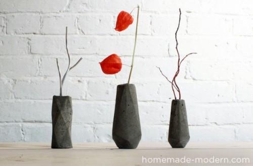 concrete geo vases (via redesignrevolution)