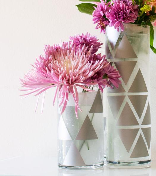 decal geo vases