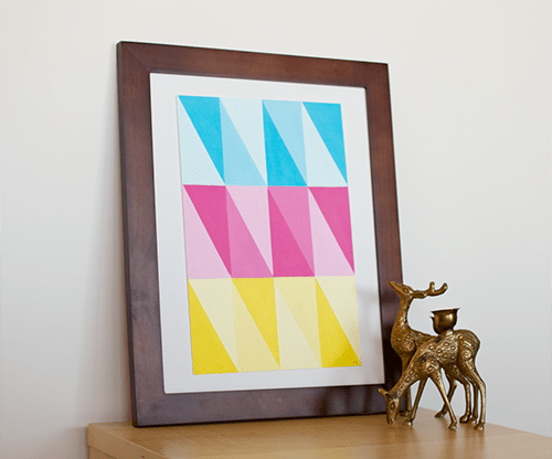 triangle wall art (via blog)