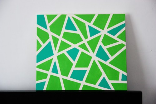 easy geometric canvas wall art (via inkandadventure)