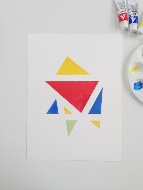 easy geometric art (via squirrellyminds)
