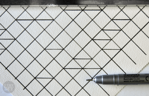 Diy Geometric Watercolor Wall Art