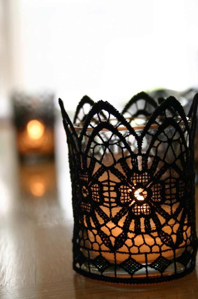 Diy Ghotic Lace Candles