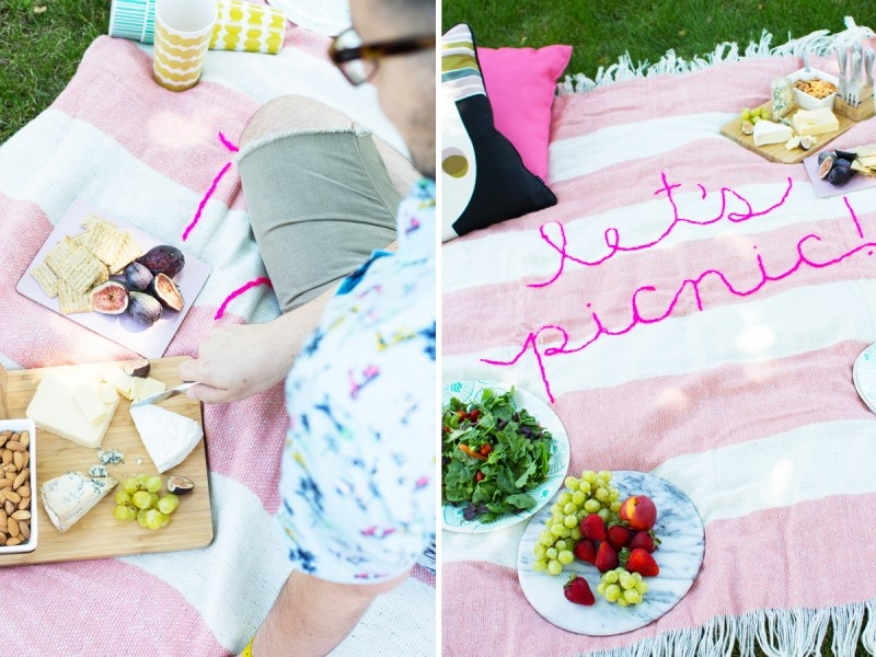 Picture Of diy giant embroidery picnic blanket  3
