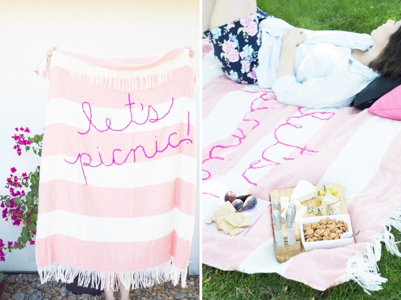 Picture Of diy giant embroidery picnic blanket  4