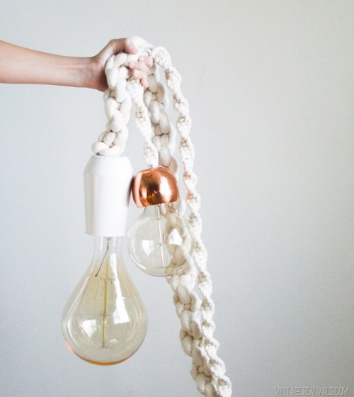 Industrial Vibe: DIY Giant Macrame Rope Lights