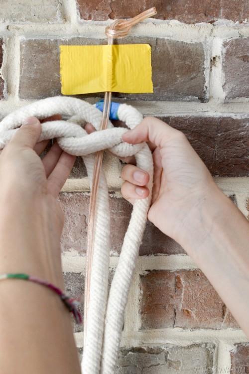 Industrial Vibe: DIY Giant Macrame Rope Lights