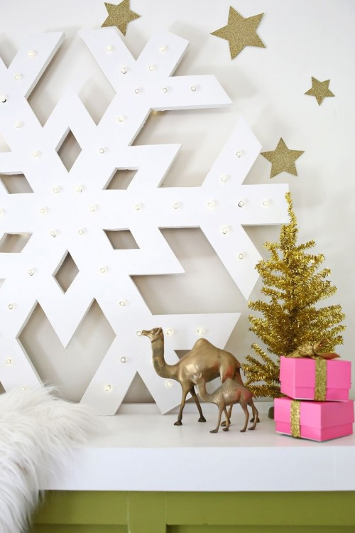 Diy Giant Snowflake Light Up Marquee