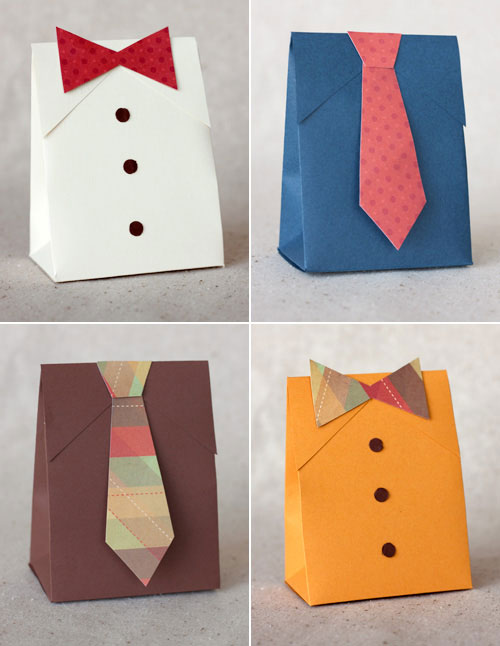 shirt and tie gift boxes (via shelterness)