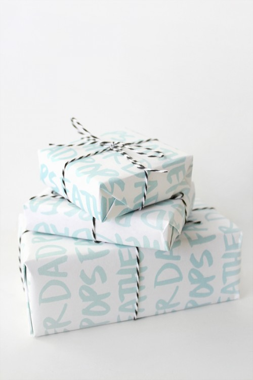 printable DAD gift wrap (via almostmakesperfect)
