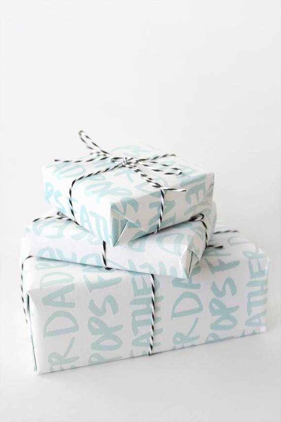 printable DAD gift wrap