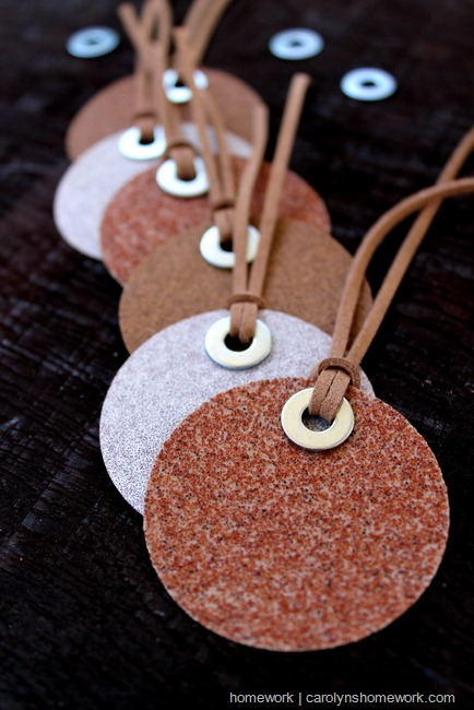 sandpaper gift tags