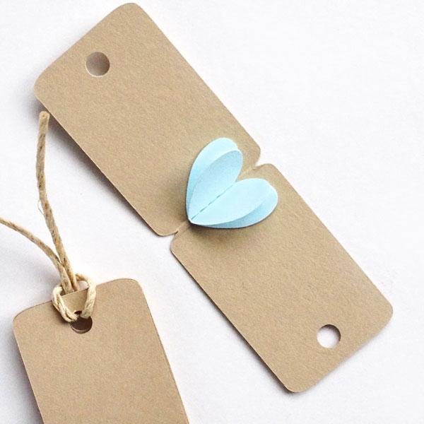 mini heart gift tags