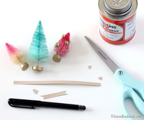 Diy Gift Topper Sof Bottle Brush Trees
