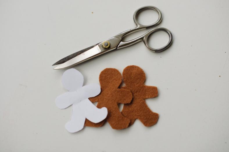 Diy Gingerbread Ornaments Of Felt