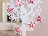 Diy Gingham Stars For Christmas Decor